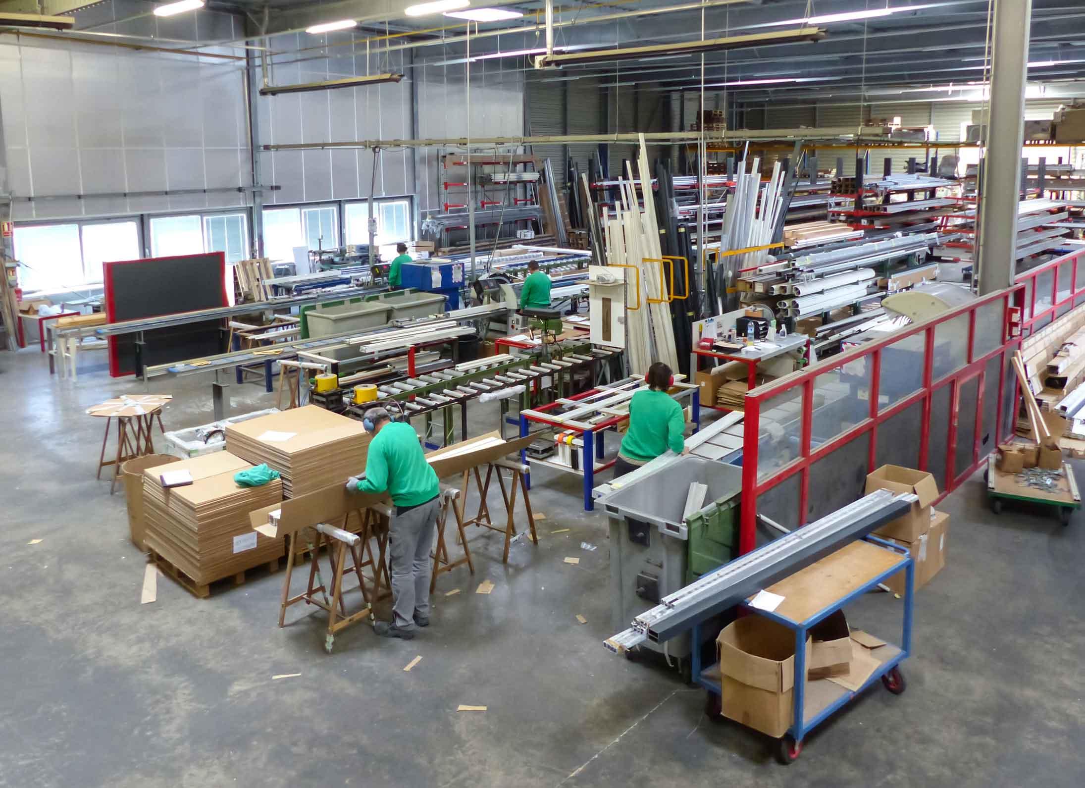 Moyen de Langlois Sobreti pour plus de réactivité : son atelier de transformation de l'aluminium
