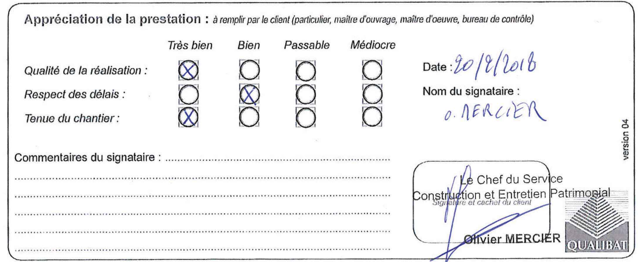 Attestation Bureau De L Huisne