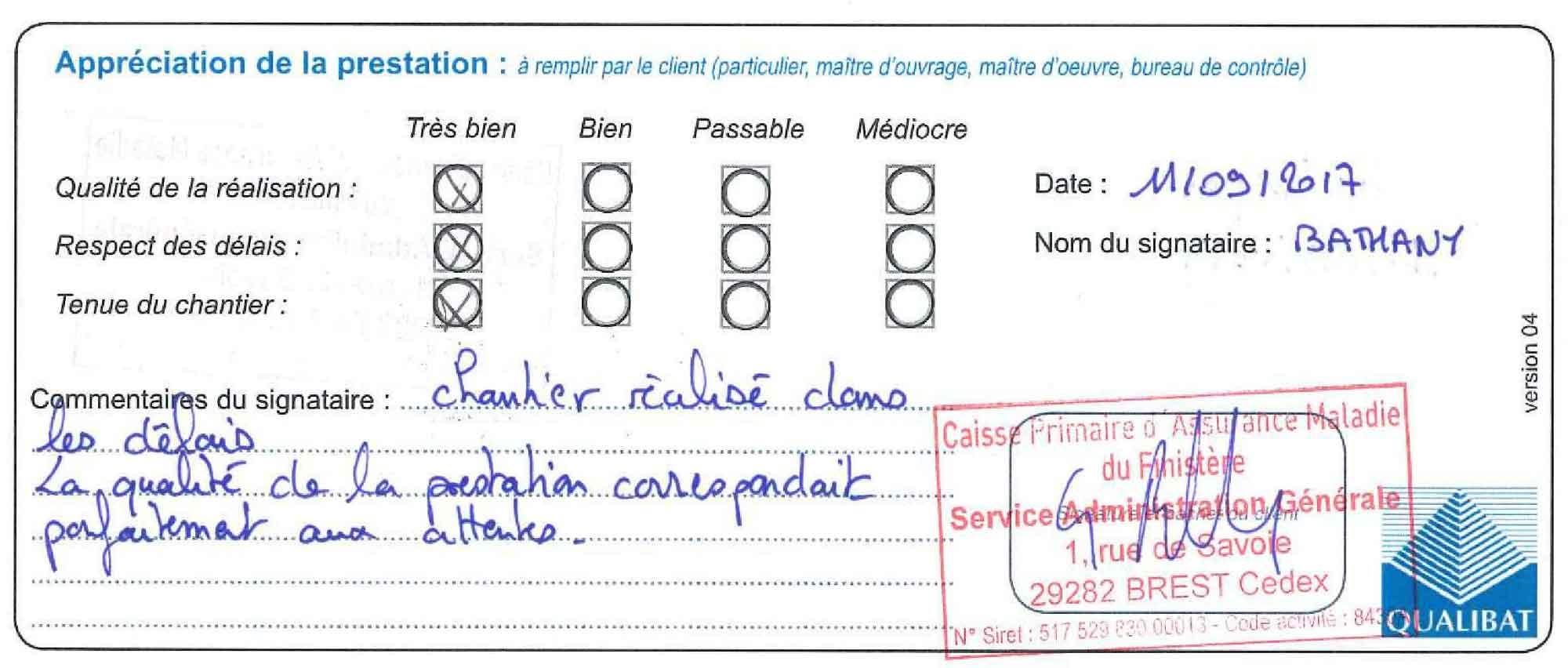 Langlois Sobreti Quimper Panneau Acoustique Myopenspace Cpam 29 Quimper Attestation Travaux