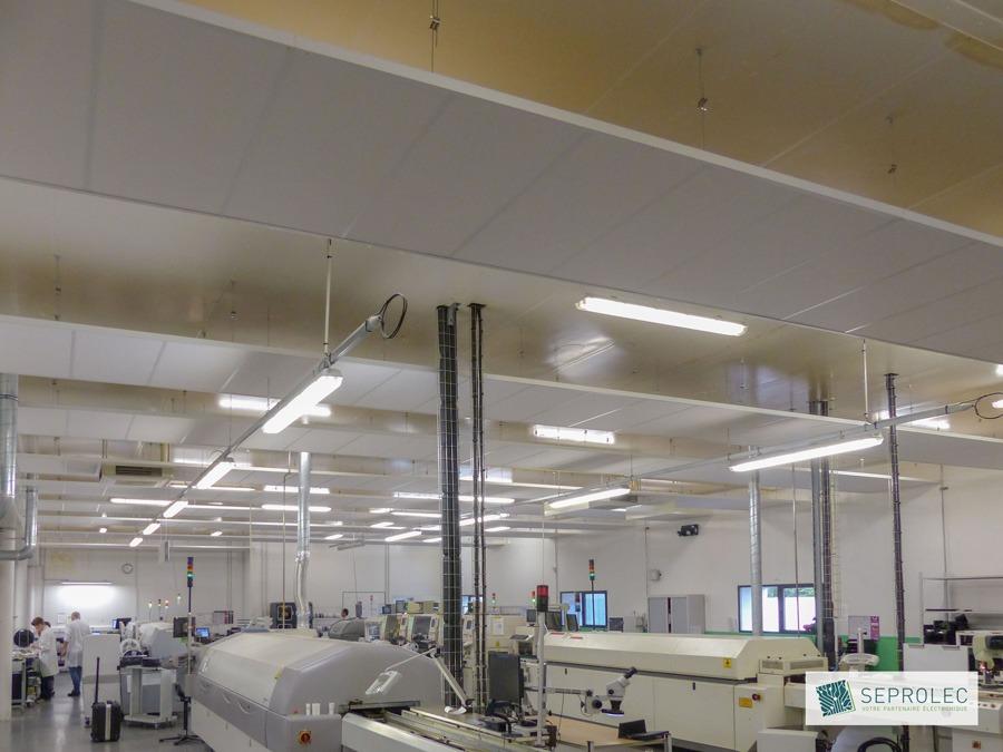Seprolec Amenagement Industriel Plafonds Demontables Usine Langlois Sobreti Bayeux