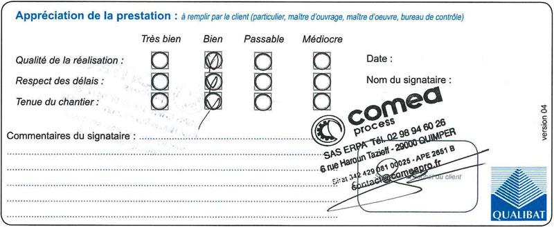 Attestation Langlois Sobreti Quimper Amenagement Placard Comea 29 Quimper