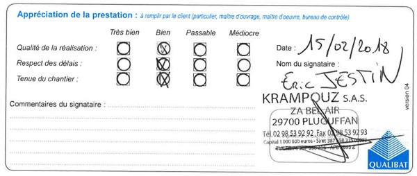 Attestation Langlois Sobreti Quimper Krampouz