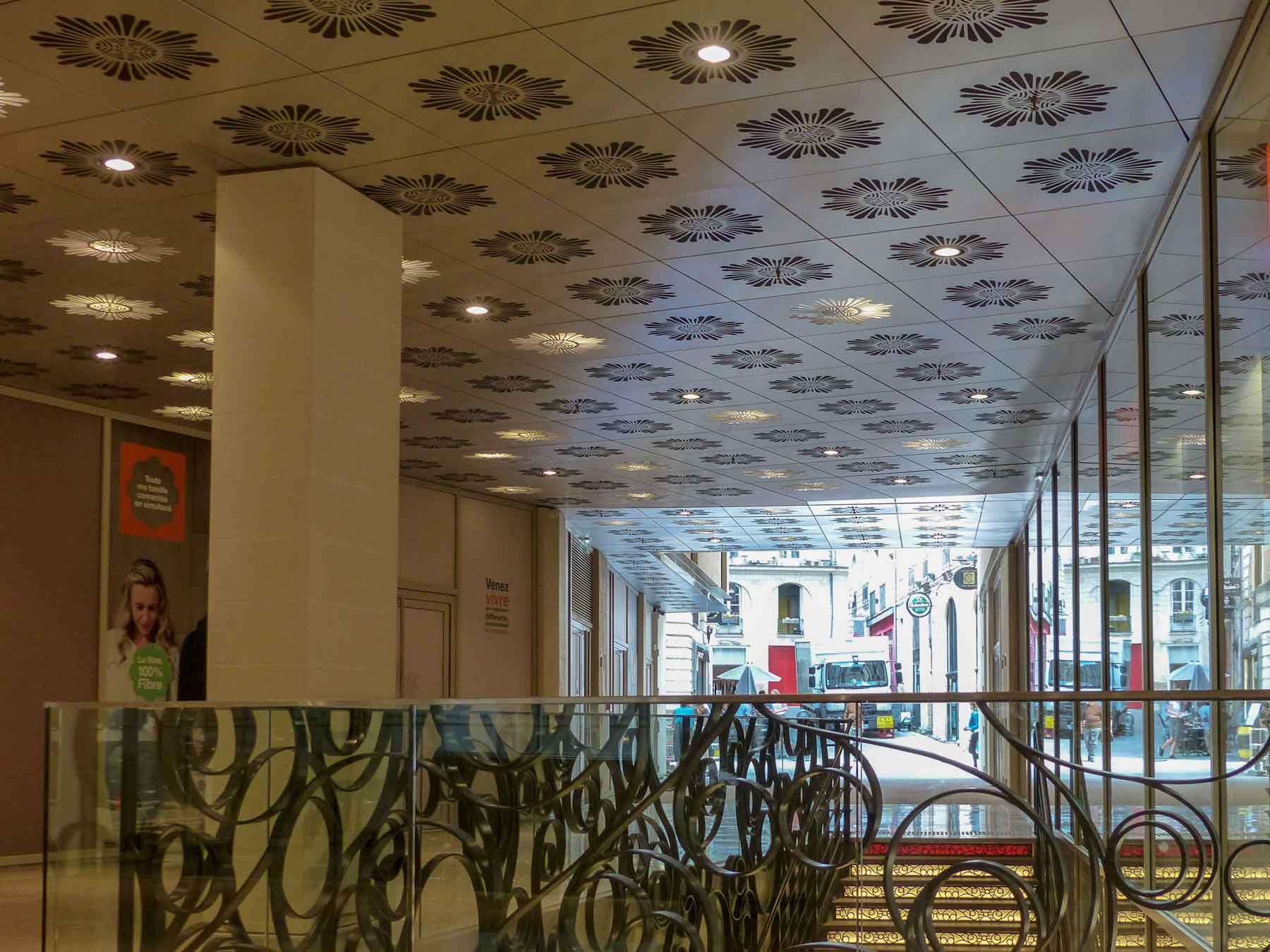 Plafond Metallique Dalle Pommeraye Nantes Langlois Sobreti 4