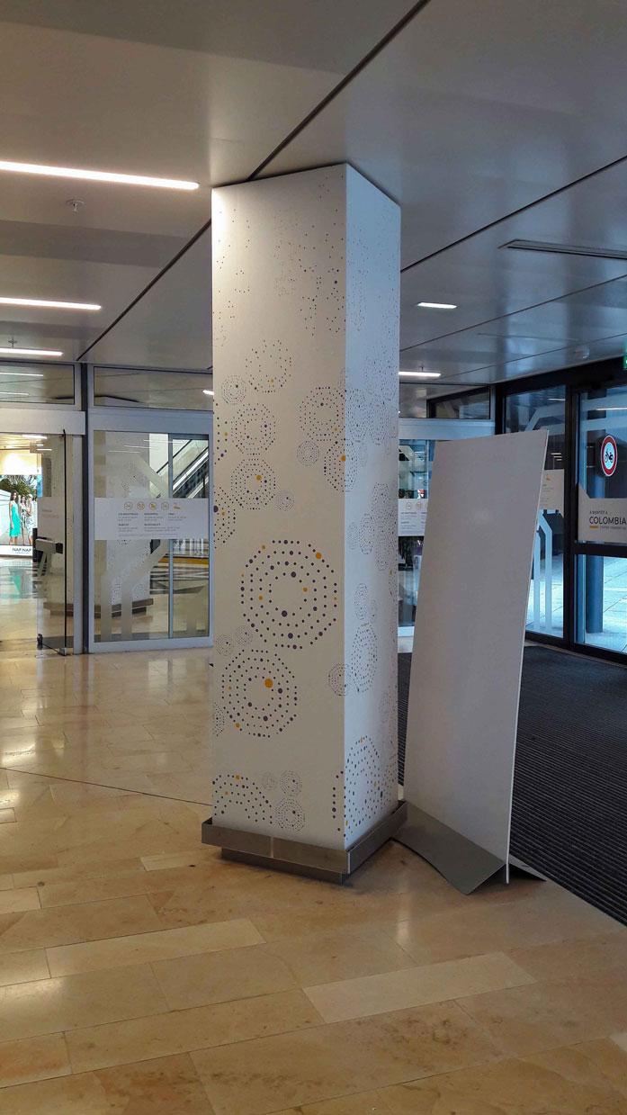 Cc Colombia Rennes Habillage Poteau Interieur Plafond