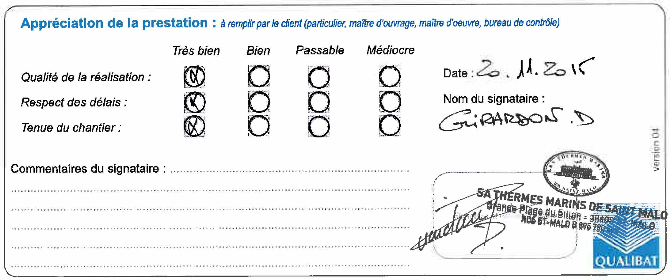 Langlois Sobreti 2015 Thermes Marins St Malo 35 Plafond Bois Masterimpact Retombees Attestation Travaux