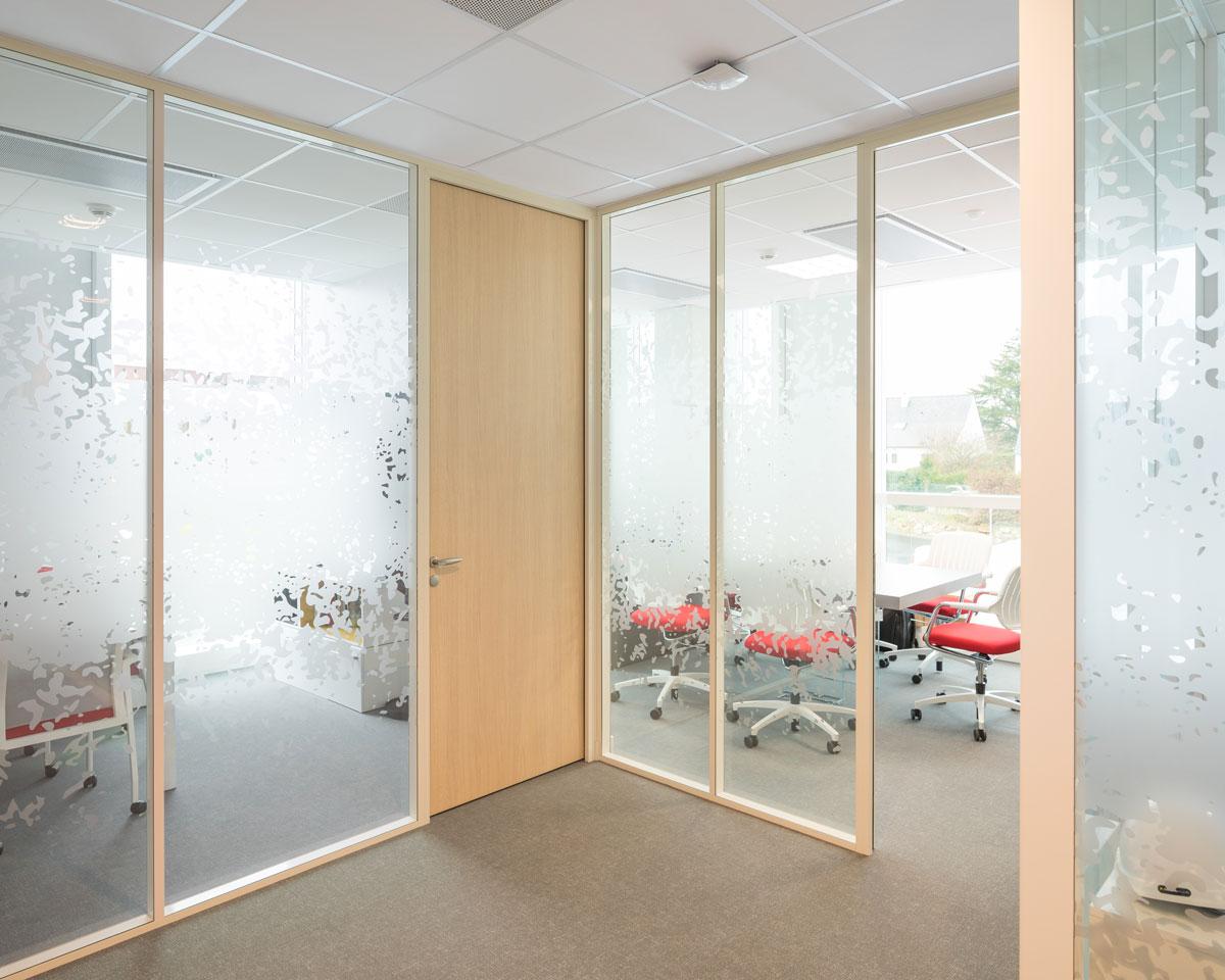 Langlois Sobreti Nantes Cloison Modulaire Cebpl 44 Bureau Bloc Porte Vitrophanie