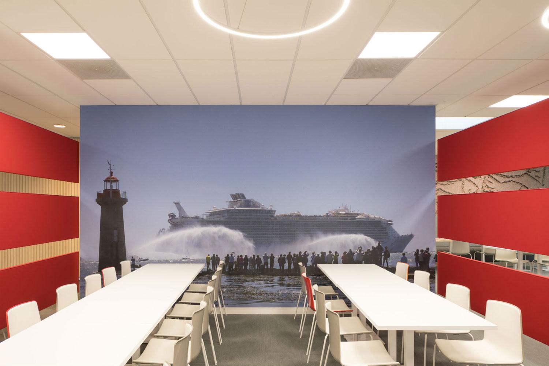 Langlois Sobreti Nantes Panneaux Acoustiques Imprimes Caisse Epargne 44 Orvault Cafeteria