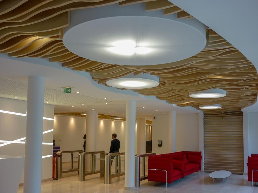 Plafonds Suspendus Bois Idf Solaris Langlois Sobreti