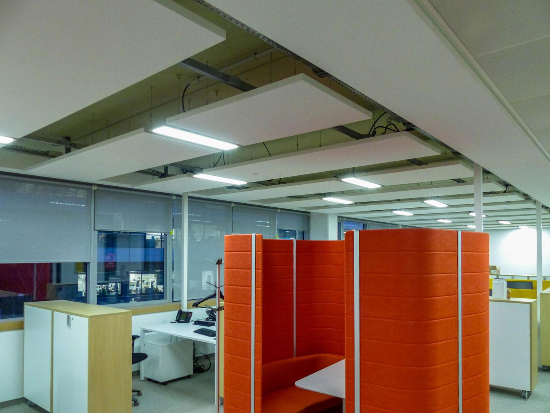 Solaris Plafonds Interieurs Ecophon Baffles Ilot Master Solo Acoustique Langlois Sobreti Idf