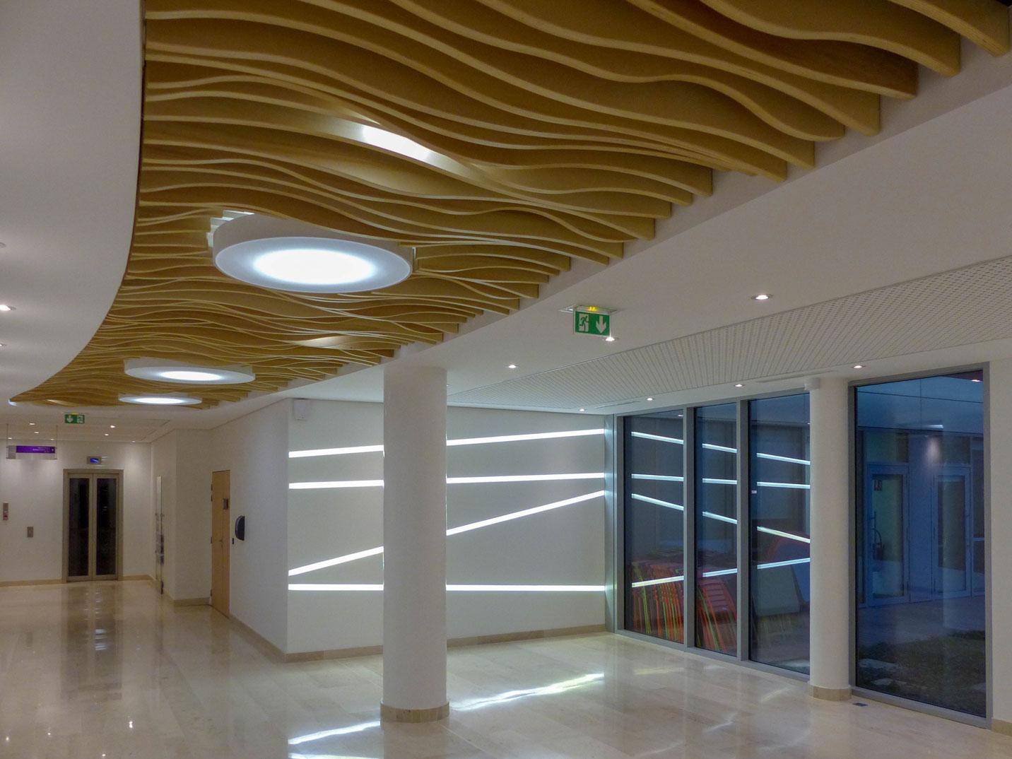Solaris Plafonds Interieurs Plafonds Bois sur-mesure Accueil Langlois Sobreti Idf