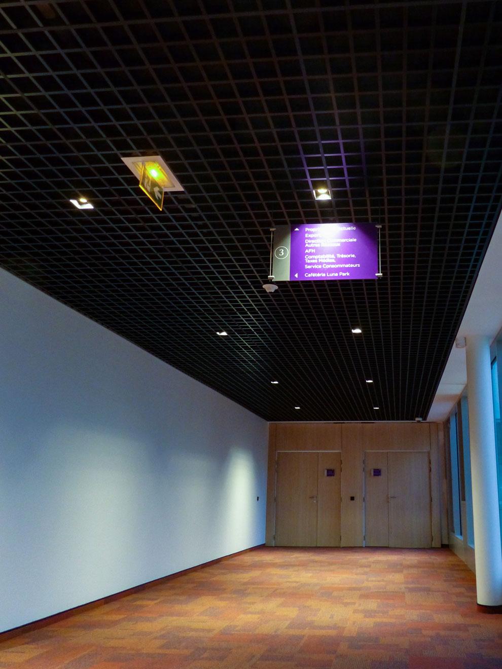 Solaris - Langlois Sobreti IDF - plafonds suspendus en format résille