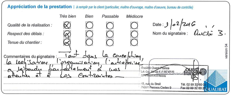 Attestation De Travaux Ouest France Globale Plateau de rédaction