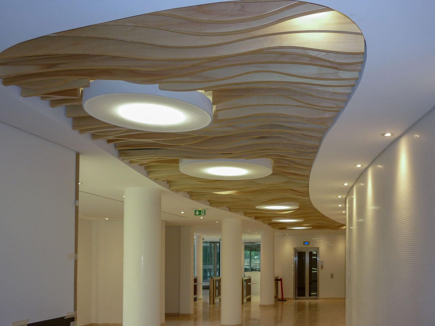 Langlois Sobreti Paris Solaris Plafonds Suspendus Interieurs Plafonds Bois