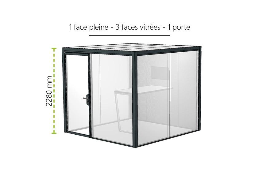Meeting Box Myo 1 Face Pleine 3 Faces Vitrees 1 Porte 1