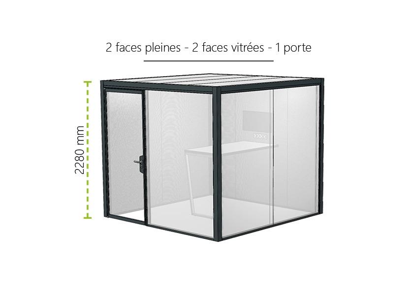 Meeting Box Myo 2 Faces Pleines 2 Faces Vitrees 1 Porte 1
