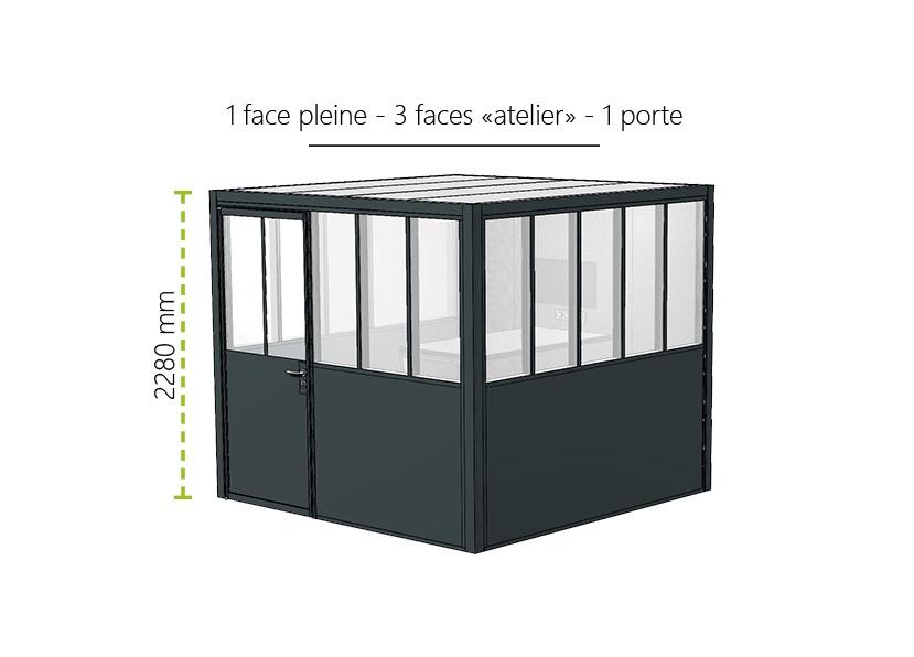Meeting Box Myo Type Verriere Atelier 1 Face Pleine 3 Faces Atelier Et 1 Porte Atelier 1