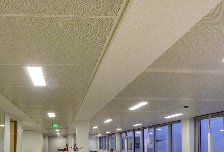 Solaris Plafonds Interieurs Bac Metallique Active Bureaux Langlois Sobreti Idf