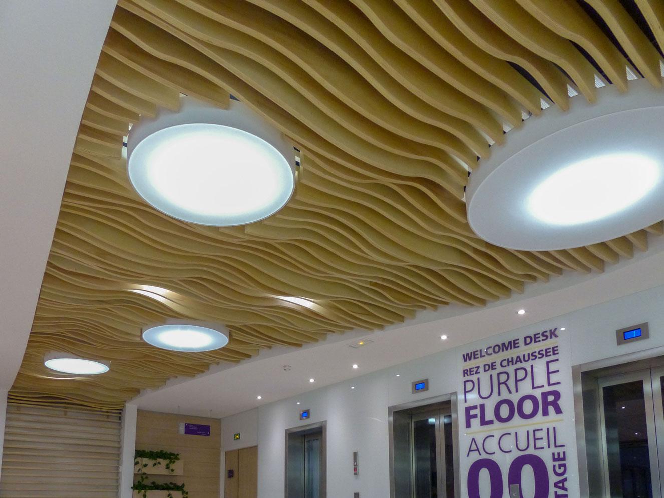 Solaris Plafonds Interieurs Bois Sur Mesure Circulation Langlois Sobreti Idf