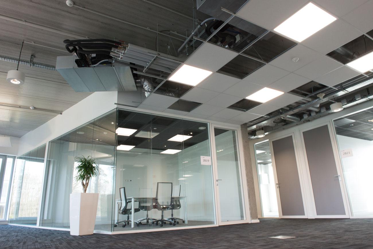 Plafonds suspendus fibre ajouré Langlois Sobreti Renens