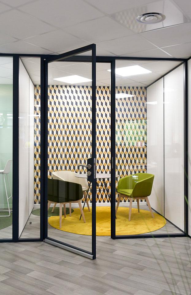 Bureau Cloison Vitree Sma Netagis Amenagement Interieur Langlois Sobreti Nantes