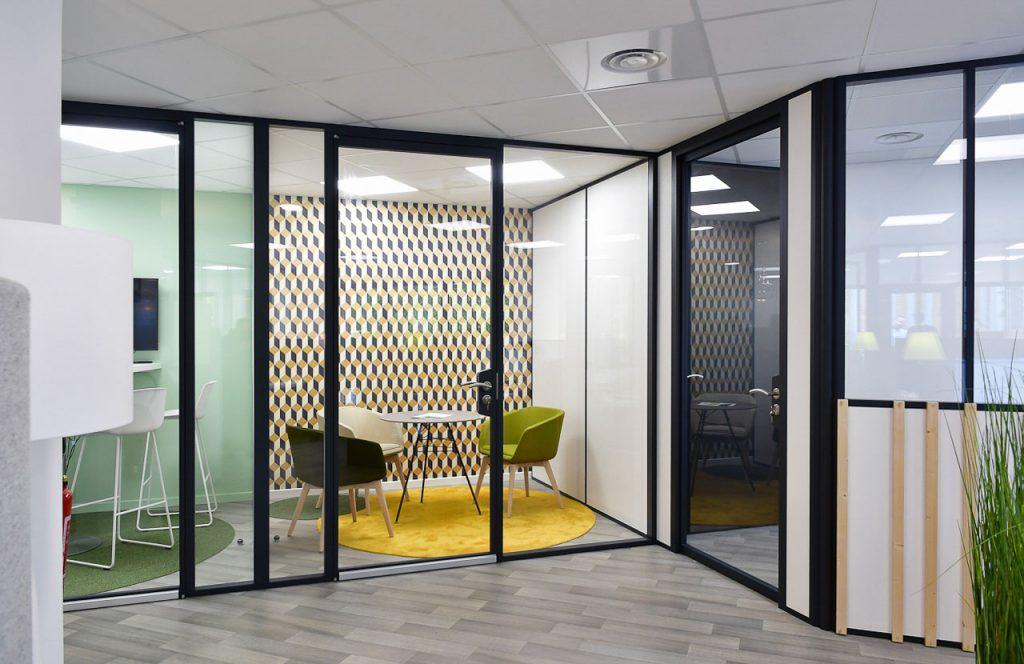 Bureaux Cloison Vitree Sma Netagis Amenagement Interieur Langlois Sobreti Nantes