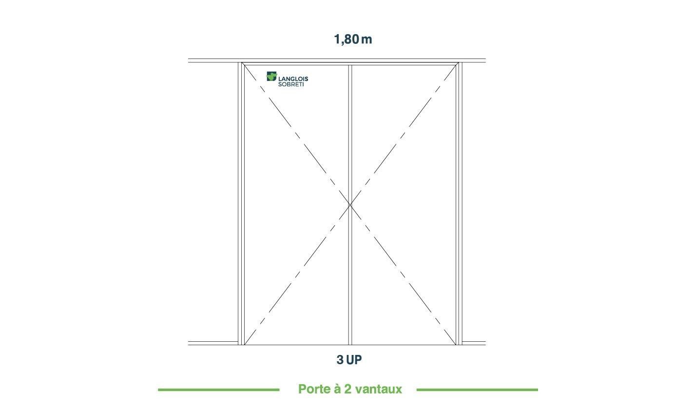 Porte 180 deux vantaux - BE Langlois Sobreti
