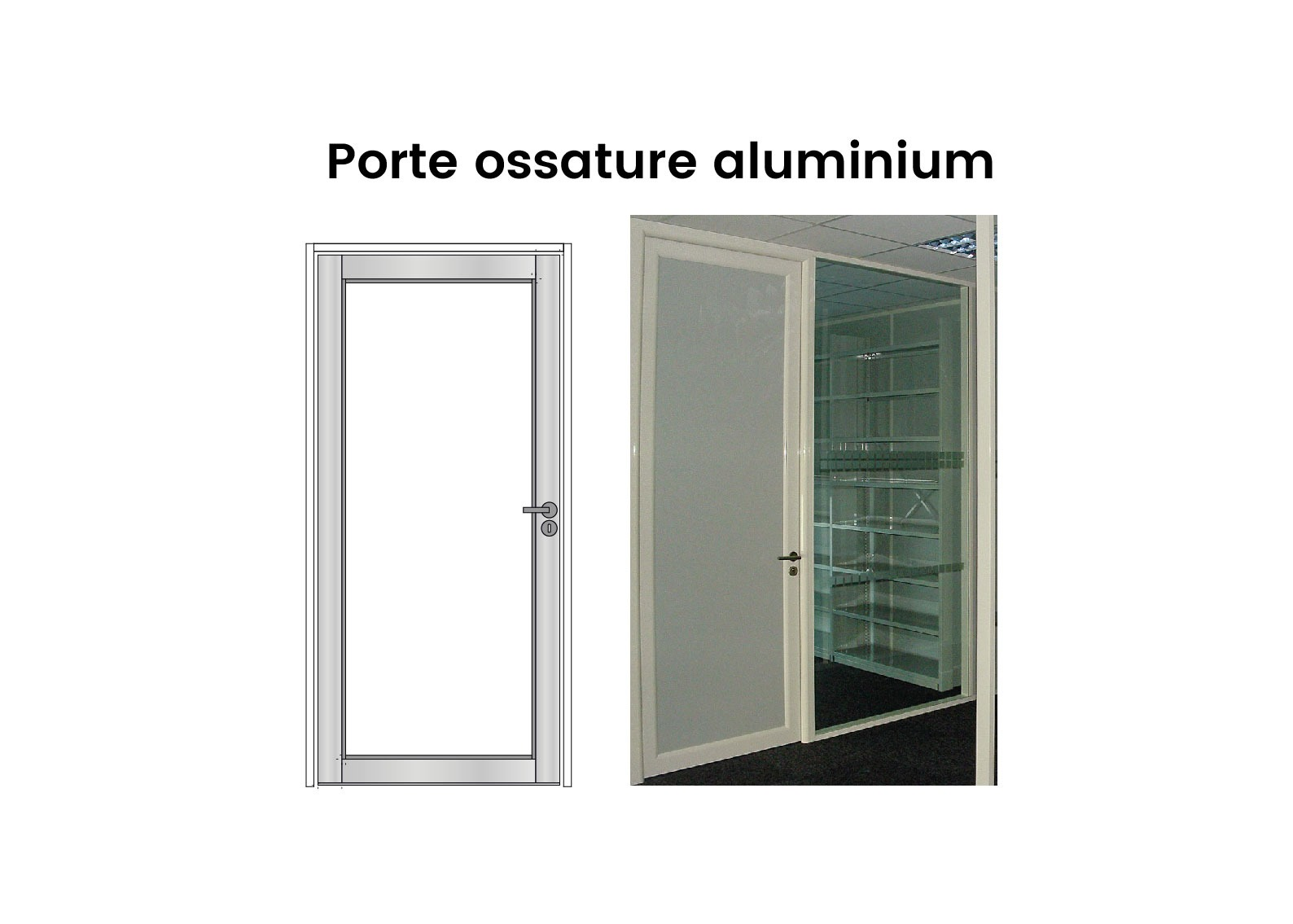 Porte Pleine Ossature Aluminium Langlois Sobreti 01