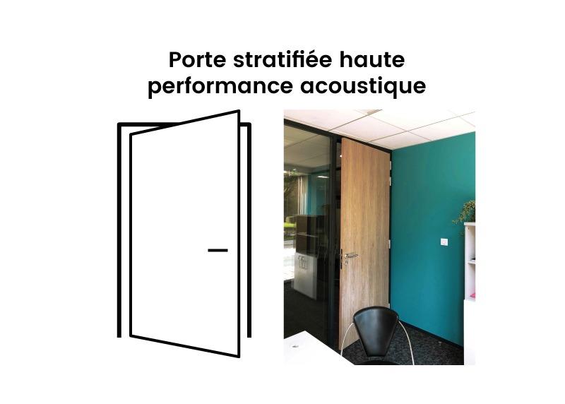 Porte Pleine Stratifié Haute Performance Acoustique Langlois Sobreti