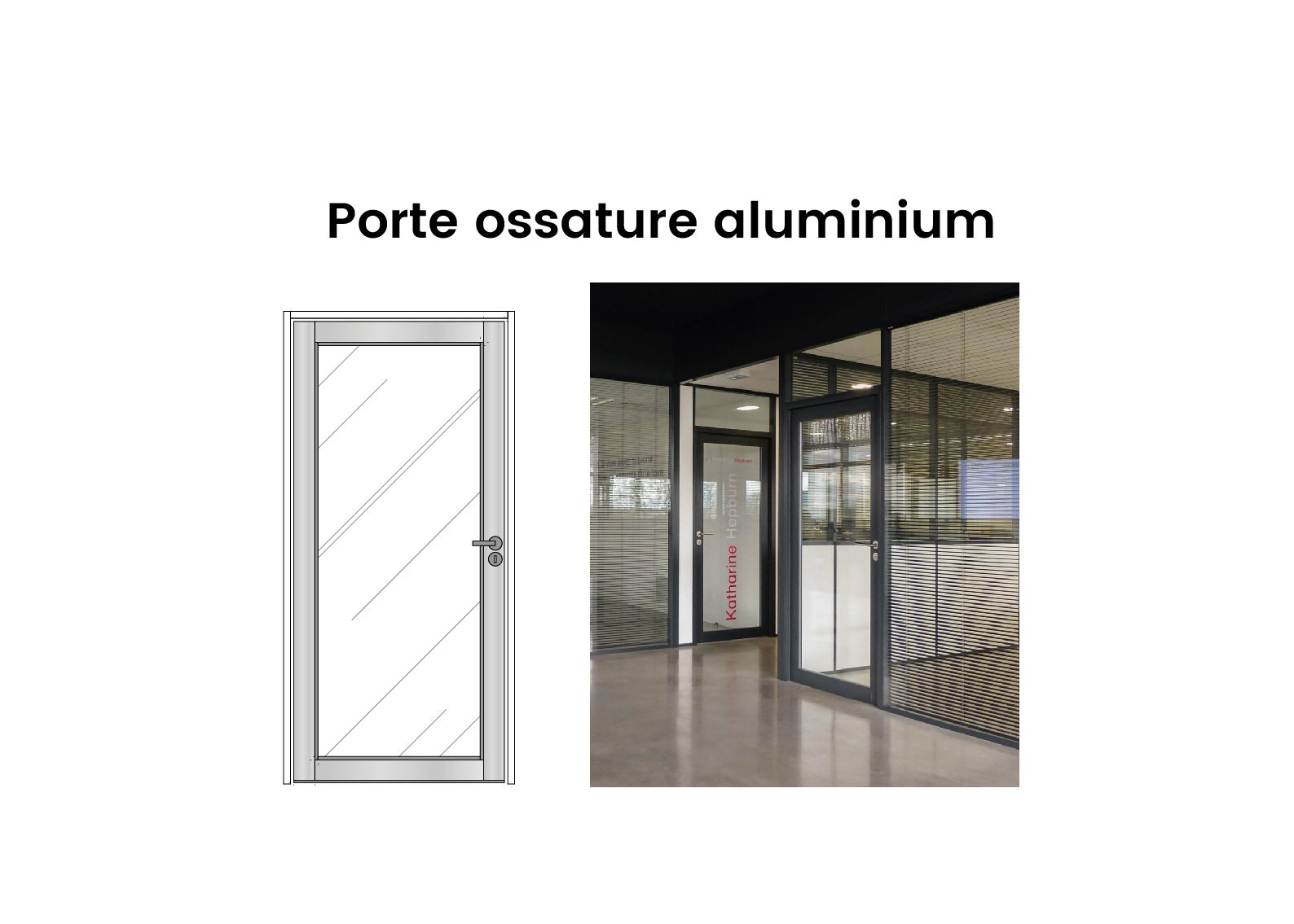 Porte Vitree Porte Ossature Aluminium Langlois Sobreti