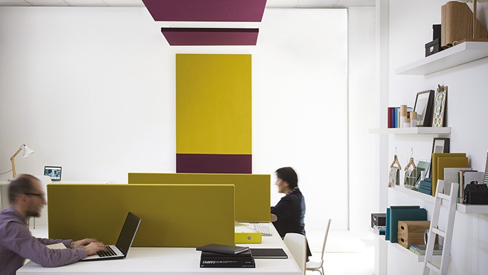 Langlois Sobreti Panneaux Acoustiques Mur Et Plafond Amenagement Dun Restaurant Dun Bureau