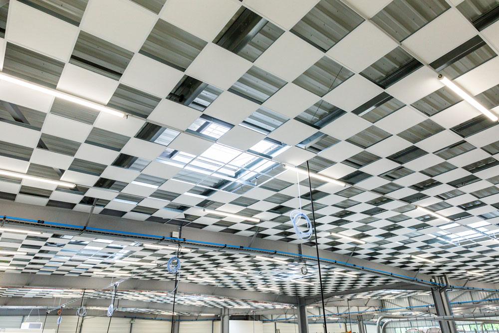 Zone Production Plafond Industriel Ajoure Etpack Langlois Sobreti Quimper